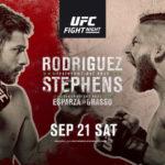 UFC Mexiko Matchkort