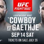 UFC Vancouver matchkort