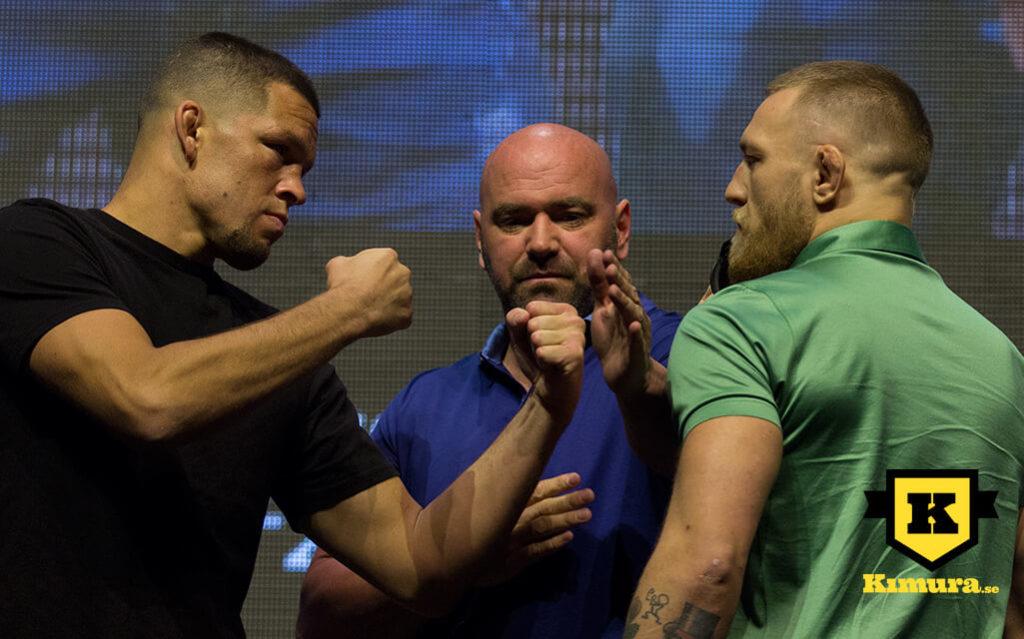 Nate Diaz vs Conor McGregor staredown