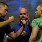 Nate Diaz vs Conor McGregor staredown