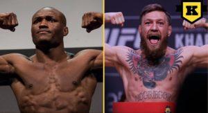 Kamaru Usman och Conor McGregor UFC
