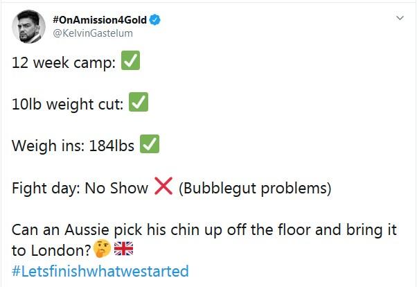 Kelvin Gastelum tweet Robert Whittaker