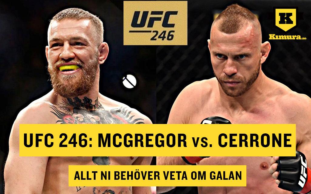 UFC 246 Conor McGregor vs Donald Cowboy Cerrone allt om galan