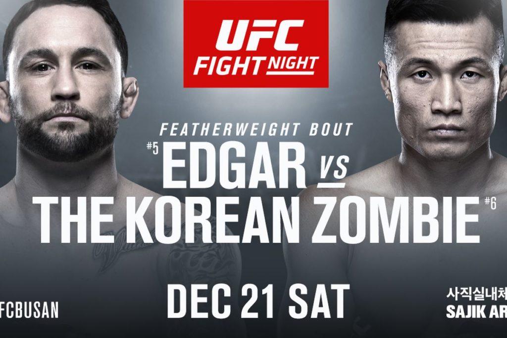 UFC Busan Matchkort