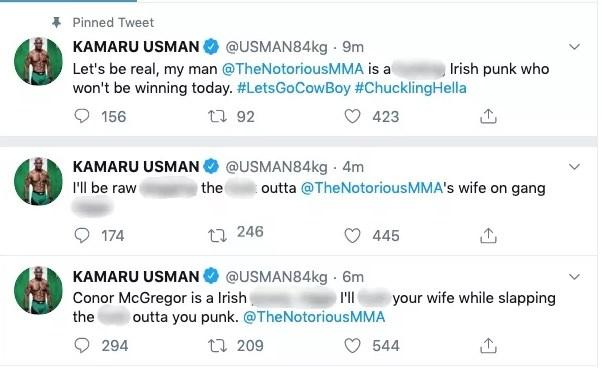 Kamaru Usman tweet
