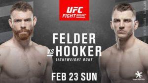 UFC Auckland Matchkort