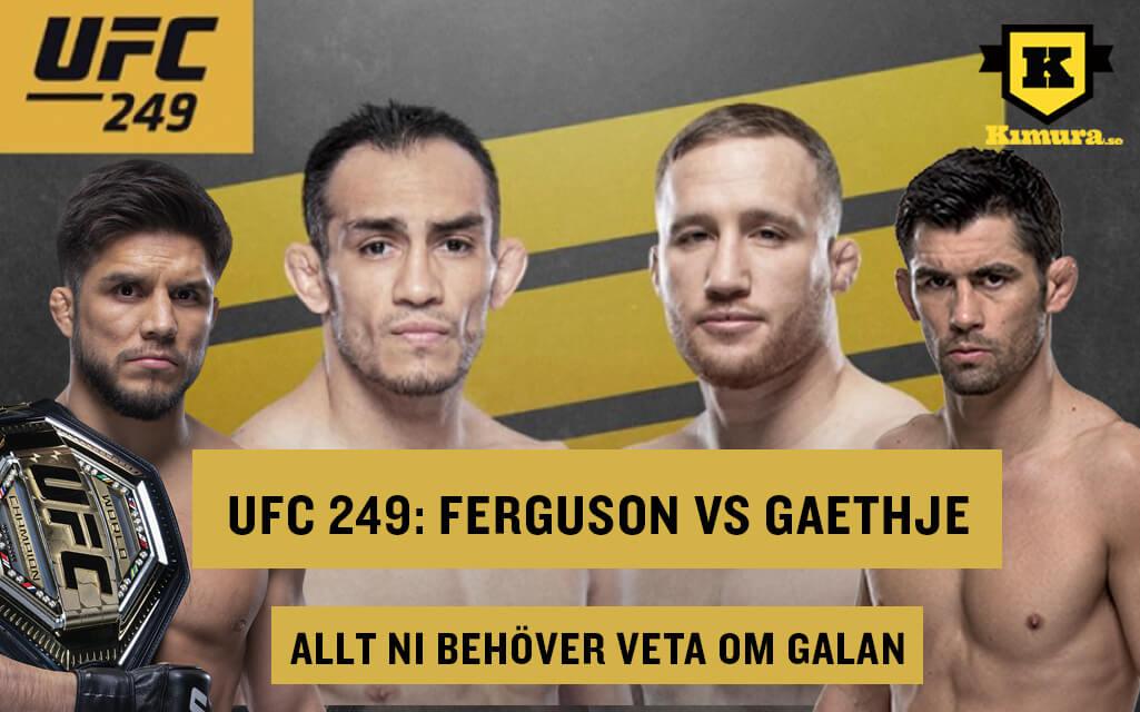 UFC 249 allt inför