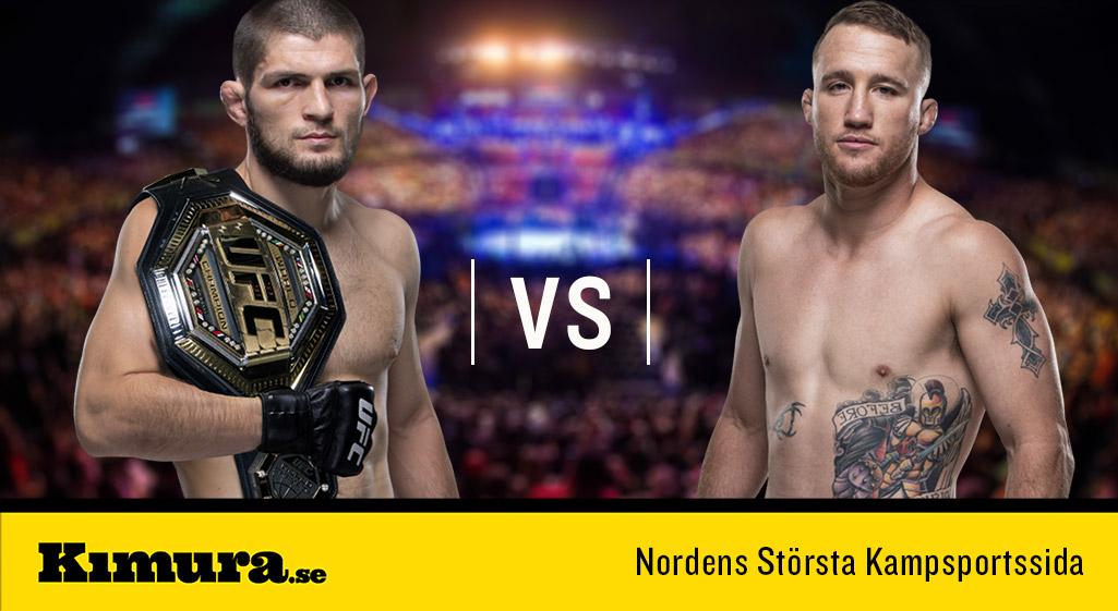 Khabib Nurmagomedov vs Justin Gaethje UFC