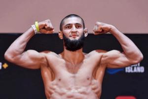 Khamzat Chimaev UFC Fight Island Invägning