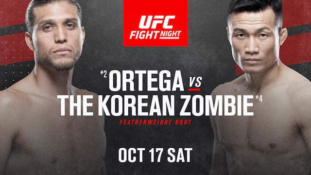 Korean Zombie vs Brian Ortega poster