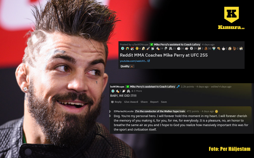 Mike Perry coachades av fan från reddit