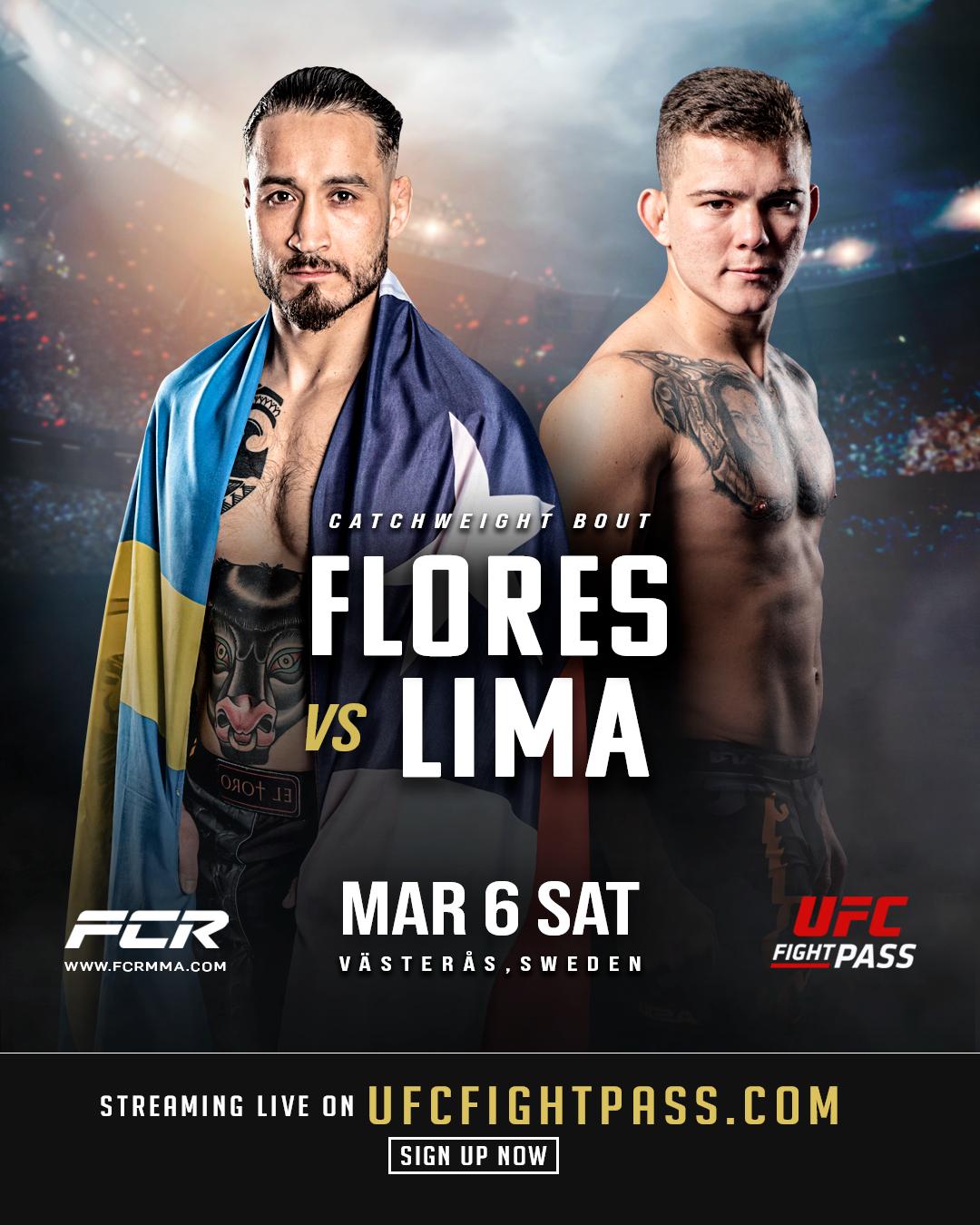 Affisch på Fernando Flores och Felipe Lima inför FCR8