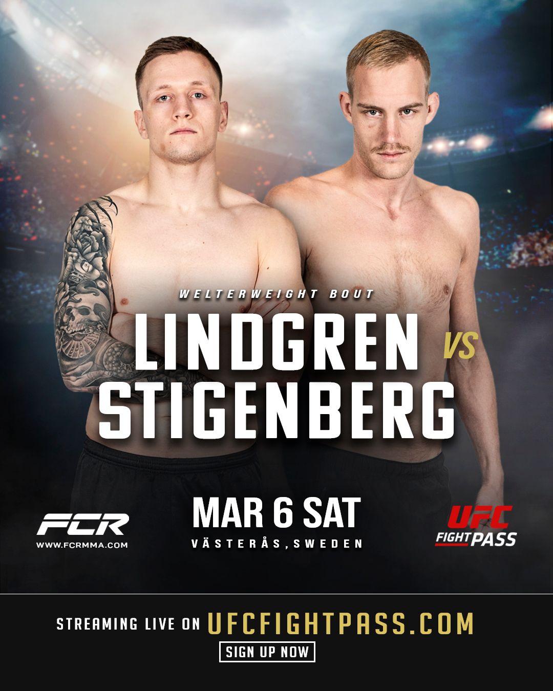 Alexander Lindgren möter Christian Stigenberg på Fight Club Rush 8