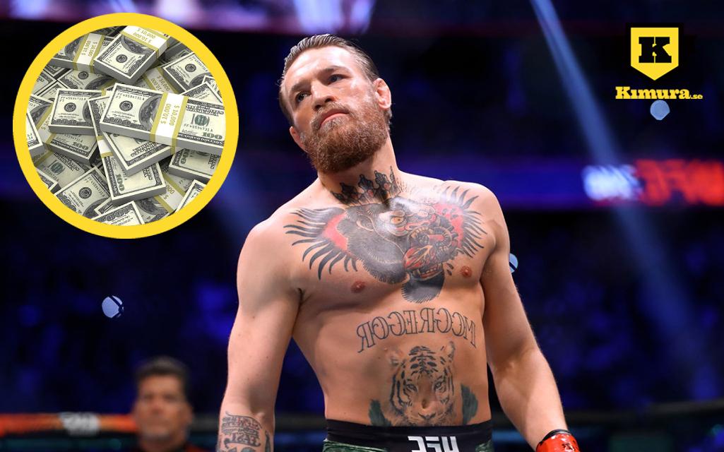 Conor McGregor tjänar upp till 200 miljoner kronor