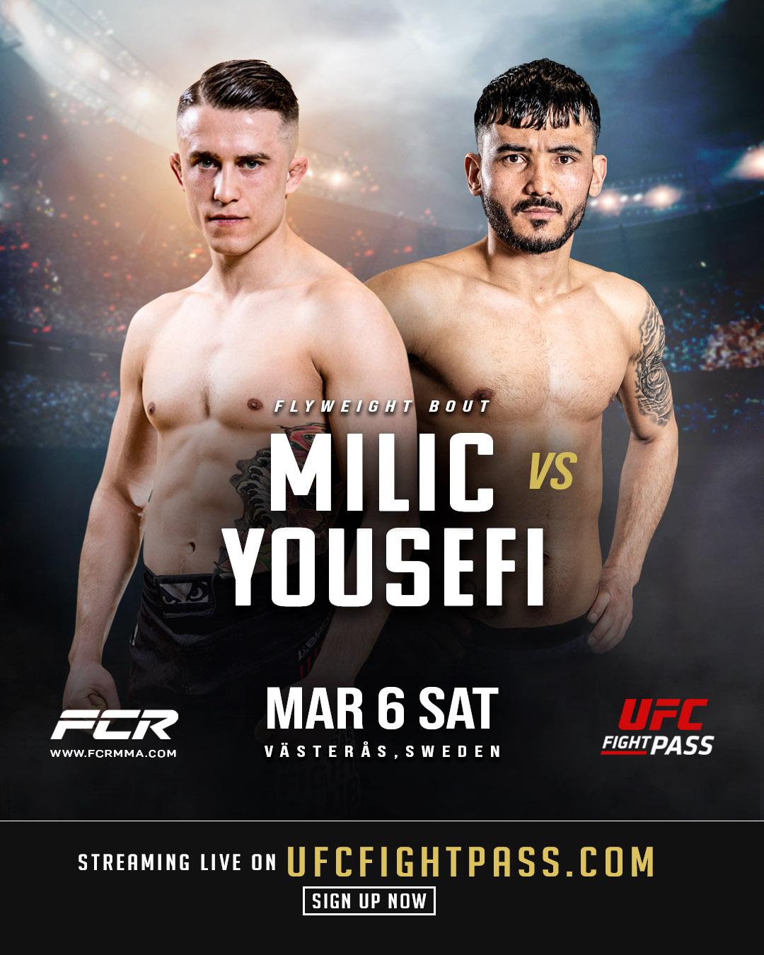 Affisch på Zoran Milic och Rohullah Yousofi