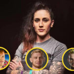 Megan Anderson med Tim Welch, Casey Kenney och Sean O'Malley i cirkel