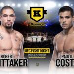 Robert Whittaker och Paulo Costa på poster