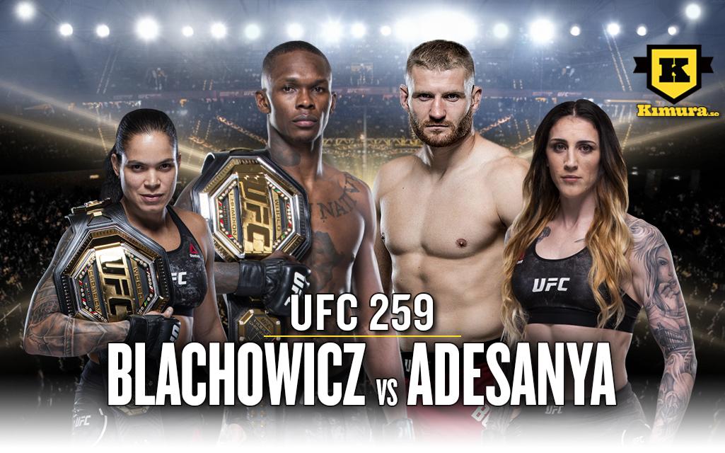 UFC 259 Blachowicz vs Adesanya Poster