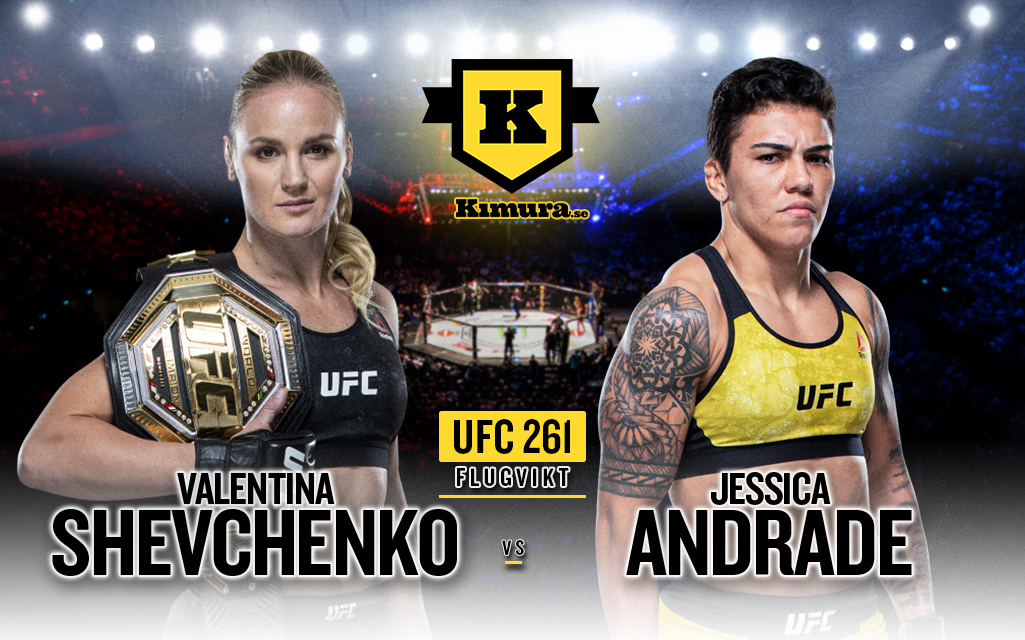 Valentina Shevchenko och Jessica Andrade