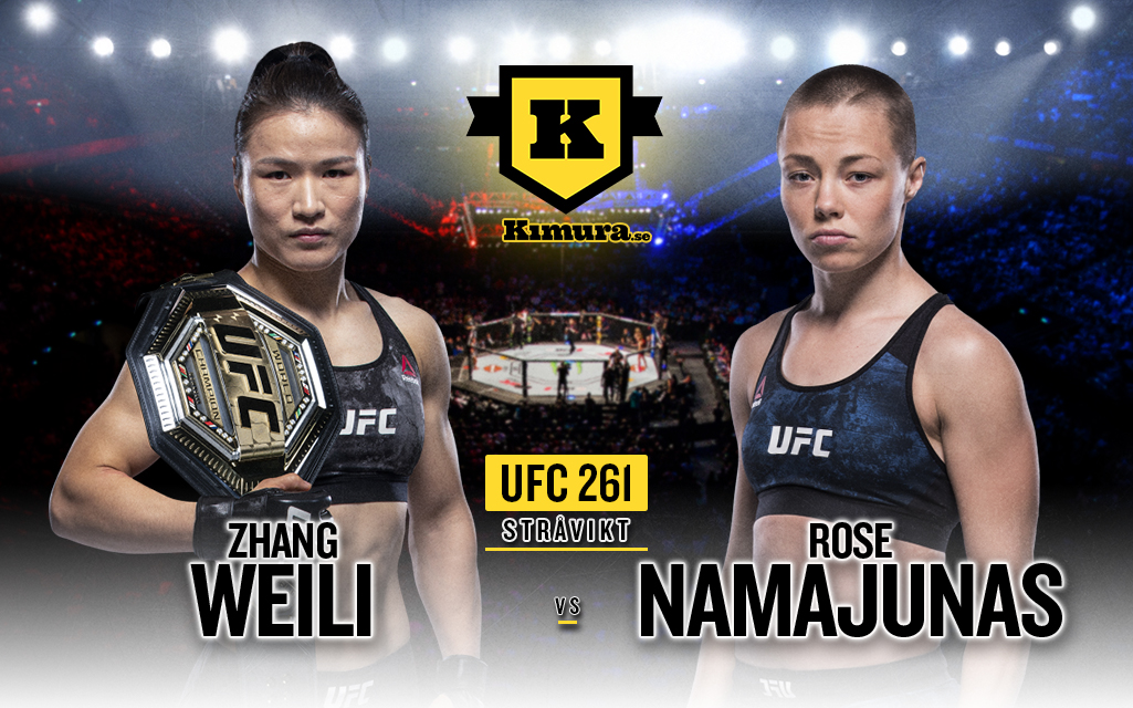 Zhang Weili och Rose Namajunas på poster