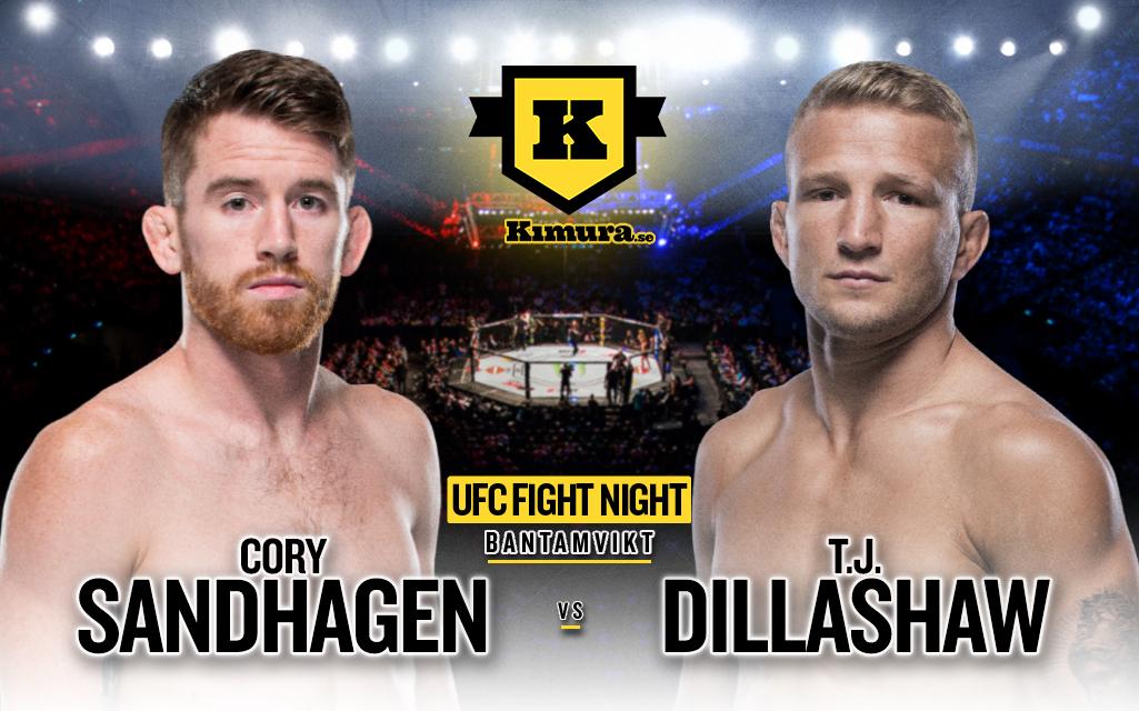 Cory sandhagen vs. T.J. Dillashaw till den 8 maj