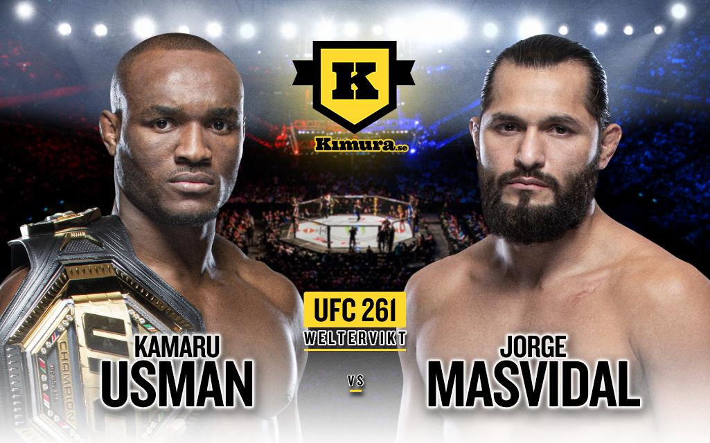 Kamaru Usman vs. Jorge Masvidal till UFC 261