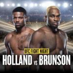 Kevin Holland vs Derek Brunson UFC
