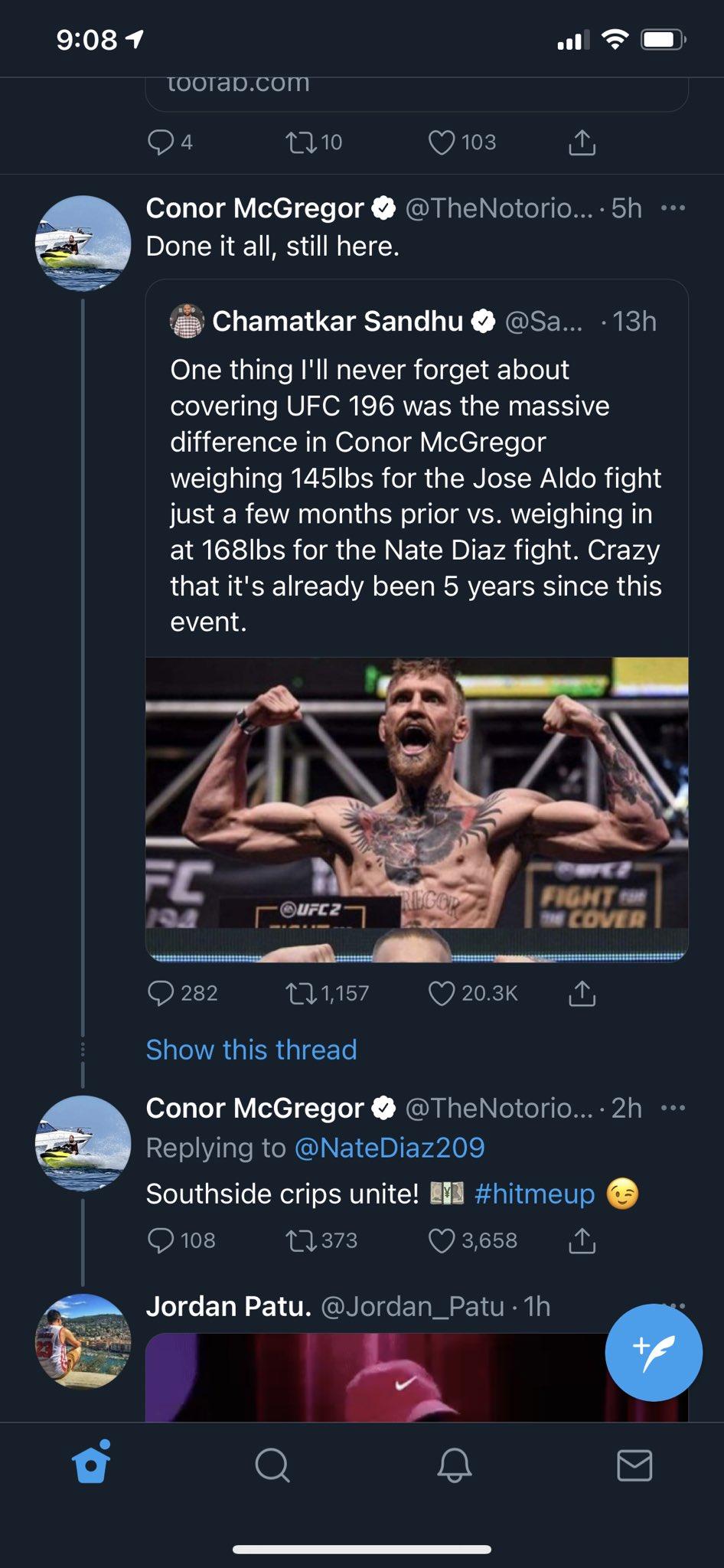 Conor McGregor Nate Diaz Twitterbråk
