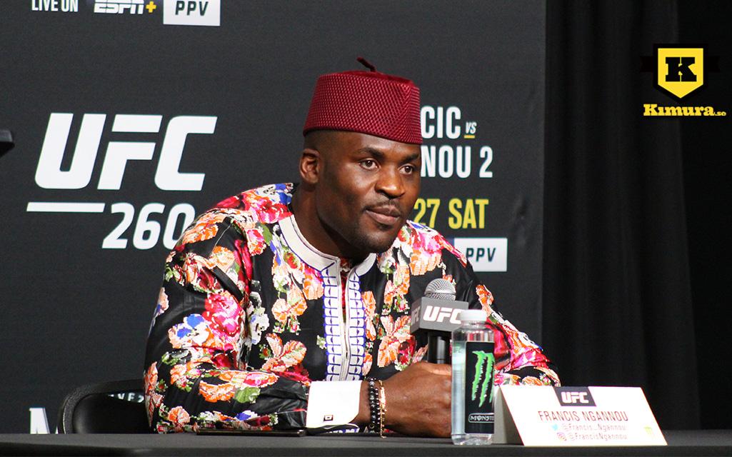 Francis Ngannou inför UFC 260