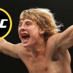 Paddy Pimblet med UFC-loggan i cirkel