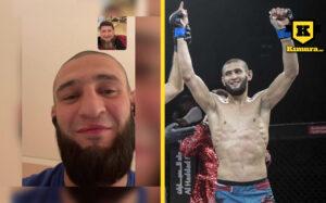 Khamzat Chimaev i videosamtal med Ramzan Kadyrov