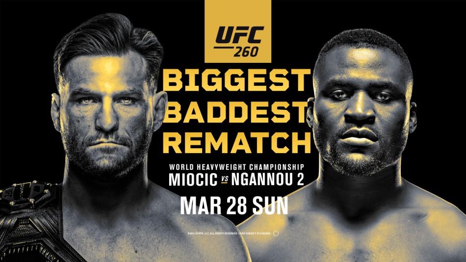 UFC 260 Poster