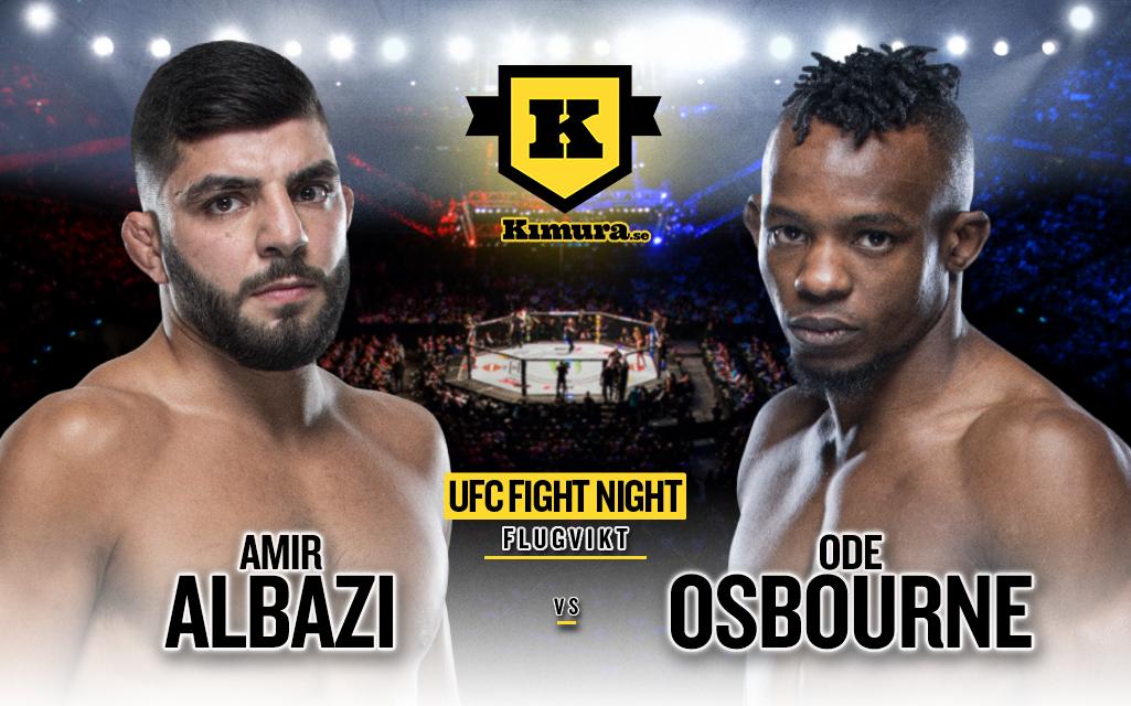 Amir Albazi vs. Ode Osbourne till den 17 juli