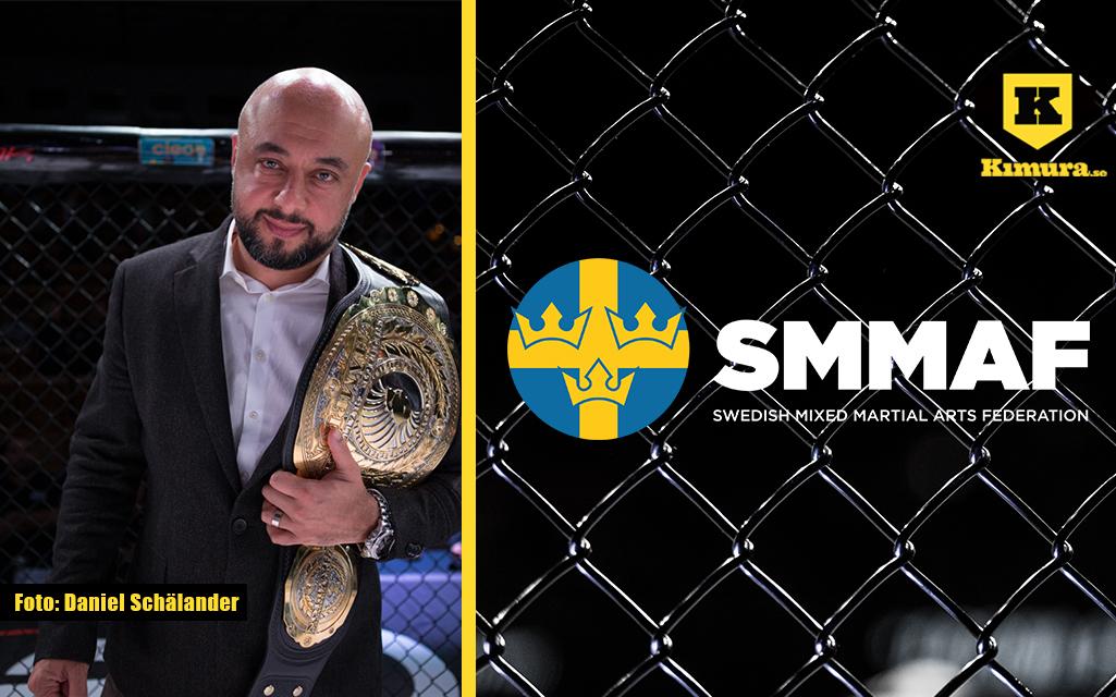 Babak Ashti med Superior Challenge Bälte och SMMAFs logga