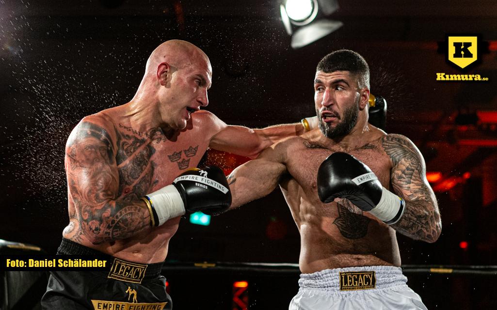 Reber Alwand och Dennis Georgsson i slagväxling på Empire Fighting Series