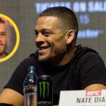 Nate Diaz med Conor McGregor i cirkel