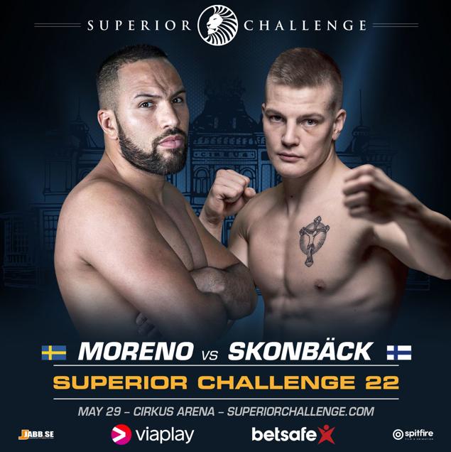 Moraad Moreno vs. Niko Skonbäck poster Superior Challenge 22