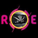 Triller-logga med piratflagga i cirkel