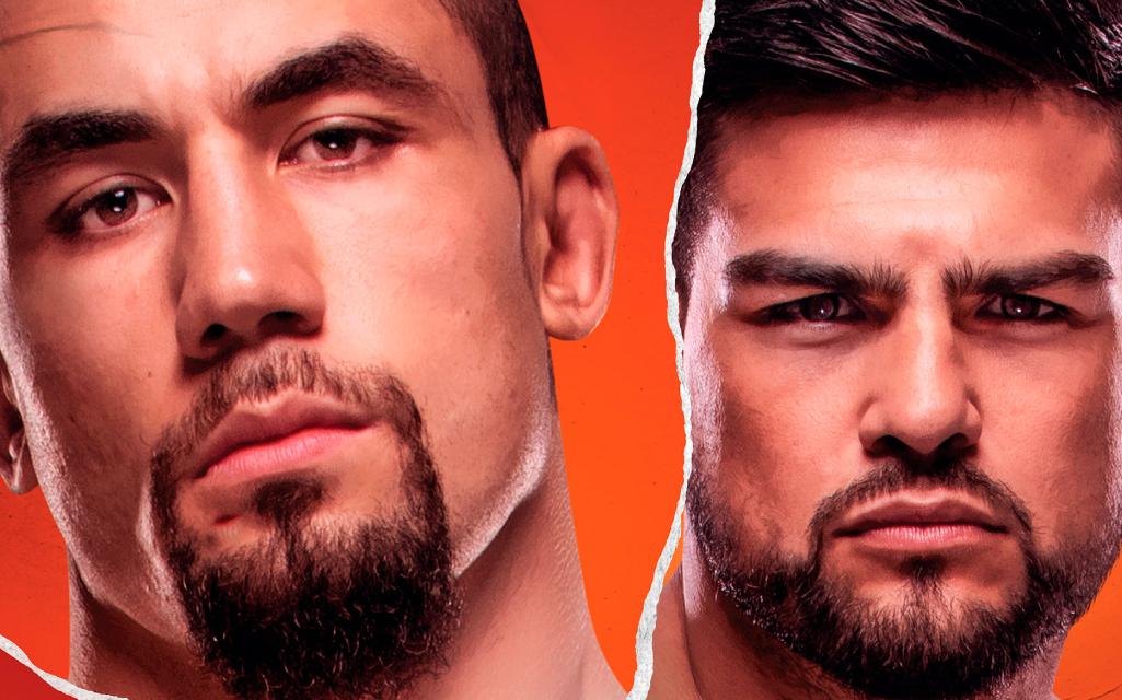 Postern för UFC Vegas 24 med Robert Whittaker och Kelvin Gastelum