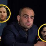 Eddie Alvarez med Justin Gaethje och Michael Chandler i cirklar