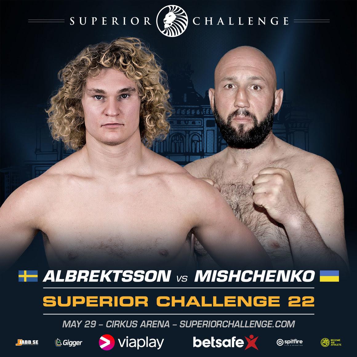 Karl Albrektsson Vladimir Mishcenko Superior Challenge 22 Poster