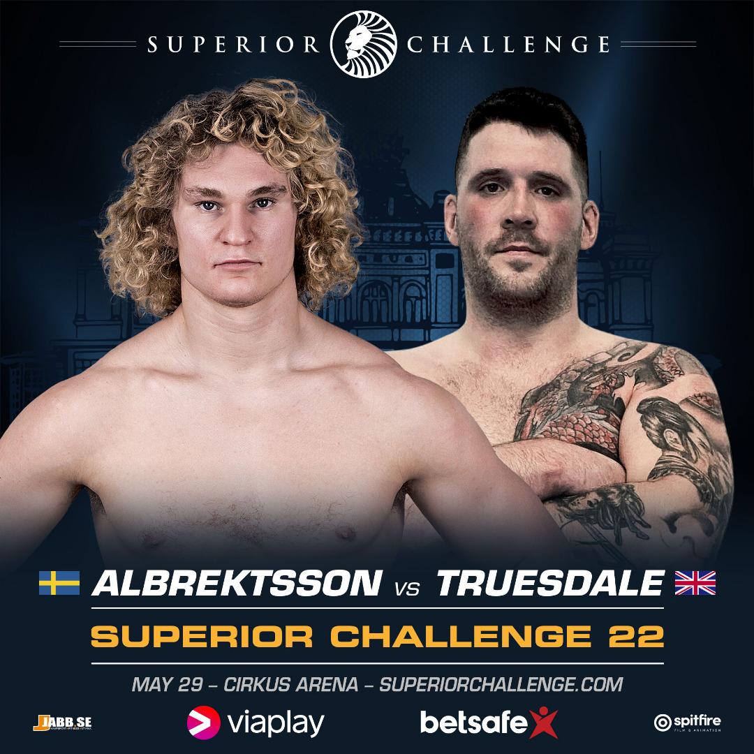 Poster inför Superior Challenge 22 med Karl Albrektsson och Rab Truesdale