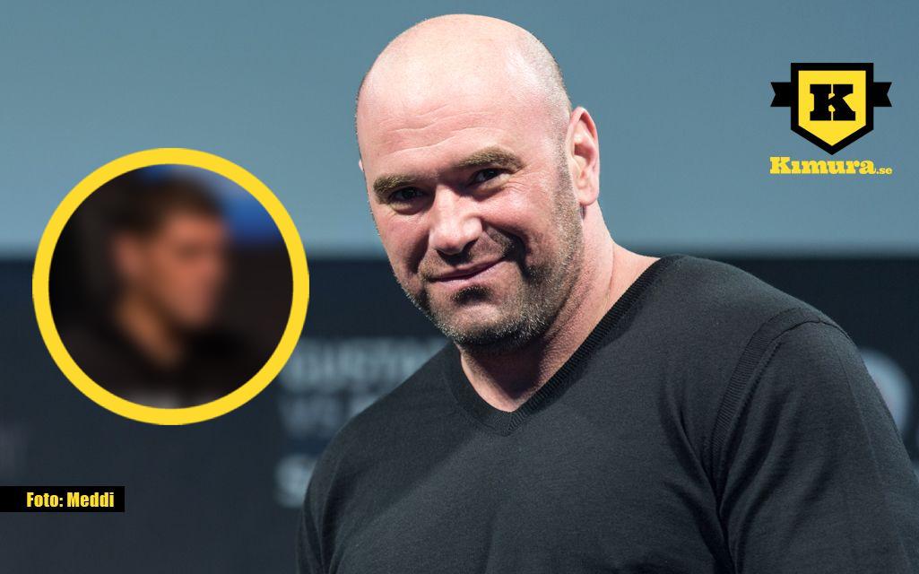 Dana White med distorted Nick Diaz i cirkel