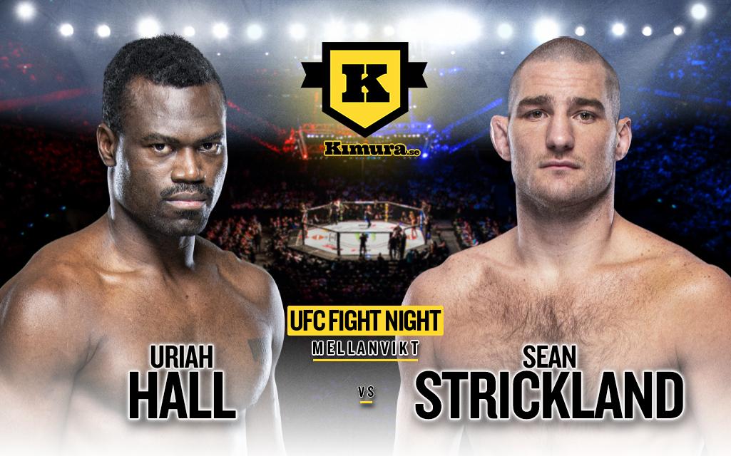 Uriah Hall vs. Sean Strickland till den 31 juli