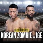 UFC Vegas 29 Korean Zombie vs Ige Poster