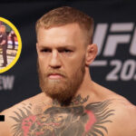 Conor McGregor med Luftspark från UFC 264 i cirkel