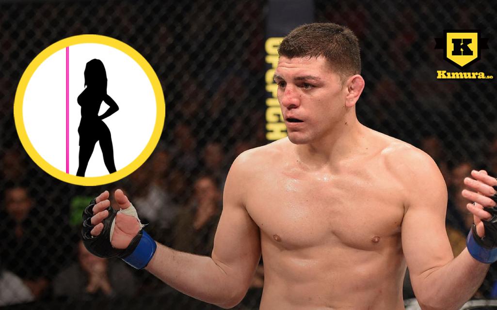 Nick Diaz med stripper i cirkel