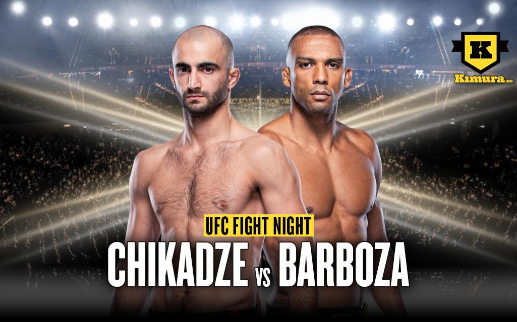 Giga Chikadze vs Edson Barboza UFC